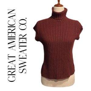GREAT AMERICAN SWEATER CO RIBBED SWEATER RUST L